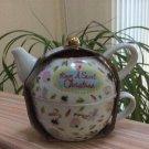 Ciroa Porcelain Tea for One Teapot Set 'Have A Sweet Christmas'!