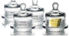 Essential Home Set of 2 Round Butter Dish Sets with Lids by Sunline!
