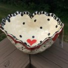 Unique Handmade Valentine Heart Ceramic Bowl (S) signed C. Teyro from The Historical Christmas Barn!