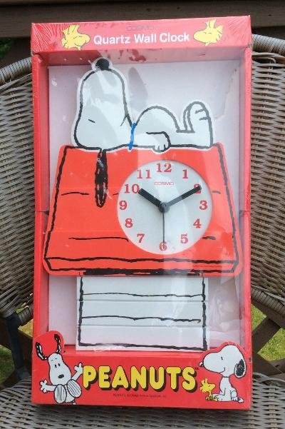 Peanuts Cosmo Snoopy Quartz Wall Clock - Model #1082!