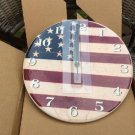 Warren Kimble Ceramic American Flag Wall Clock #CRLFLA - Santa Barbara Ceramic Designs!