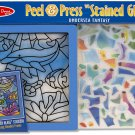 Melissa & Doug Peel and Press Stained Glass Sticker Set: Undersea Fantasy - 100+ Stickers, Frame!