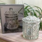 Royal Brighton Crystal Glass Jam Jar with Cover by Indiana Glass #4845!