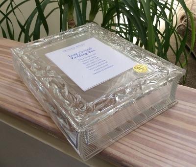 Princess House 24% Lead Crystal Wedding Colllection Frame Box #754!