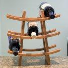 Lipper 9-Bottle Bamboo Contemporary Pagoda Shaped Wine Rack!