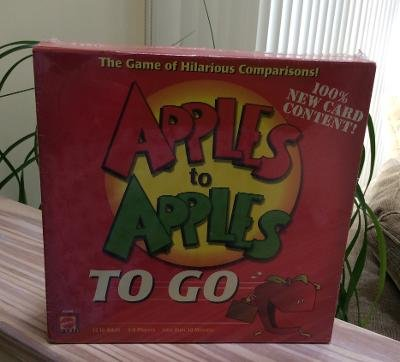 Apples to Apples to Go with Carry Handle - The Game of Hilarious Comparisons by Mattel - SEALED!