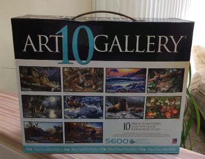 Art Gallery 10 Deluxe Jigsaw 5600 piece Puzzle Set - WILDLIFE!