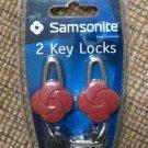 Samsonite Two-Pack Red Travel Key Locks #SM1880RE!