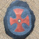 Reg Beach Original Celtic Cross Slate Carving Hand Made Wall Hanging Irish Made