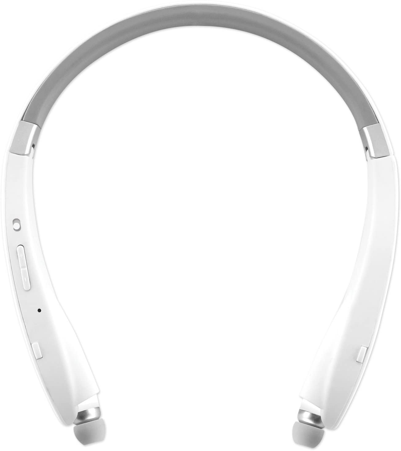 IPro Series: Bluetooth On The Neck Earbuds with Vibrating Headband - White - by Sentry Industries!