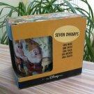 The Disney Store Seven Dwarfs Mini Bean Bag Plush Ceramic Mug - NIB!