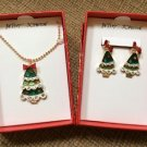 Betsey Johnson Moveable, Jointed Christmas Tree Jewelry Set - New!