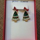 Betsey Johnson Moveable, Jointed Christmas Tree Earrings - New!