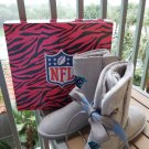 Love Cuce Carolina Panthers Officially Licensed NFL Team Bling Boot with Crystal Logo - Size 8!