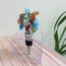 PIER 1 IMPORTS Cheery Multi Color Glass GEMS Wine Bottle Stopper - New in Box!