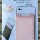 Quick Pocket Mobile Device Stretchy RFID Pocket (Pink) from Good Living in Style!