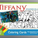 PomegranateKids Louis Comfort Tiffany Glass Coloring Card Set in Decorative Tin!