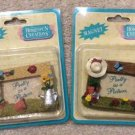 Vintage Dandee Homespun Creations 'Pretty As A Picture' Photo Frame Magnet Set!