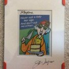 Hallmark Maxine Crabby Road Plaque 'Never Ask A Lady Her Age. And Don't Ask Me Either.'!