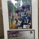 New York Giants Photo File Matted Print w/ Stamp 16 x 12 - MANNING, BARBER + issued by USPS!