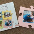Interlocking Puzzle Piece 6 x 5 Picture Photo Frame by The Crystal Collection - PINK!