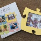 Interlocking Puzzle Piece 6 x 5 Picture Photo Frame by The Crystal Collection - YELLOW!