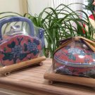 Ben Rickert Zen Porcelain Collection Teapot and Perfumed Covered Candle on Bamboo Trays!