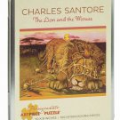Pomegranate Art Piece Puzzle Charles Santore 'The Lion and the Mouse' 100 Piece in Tin!