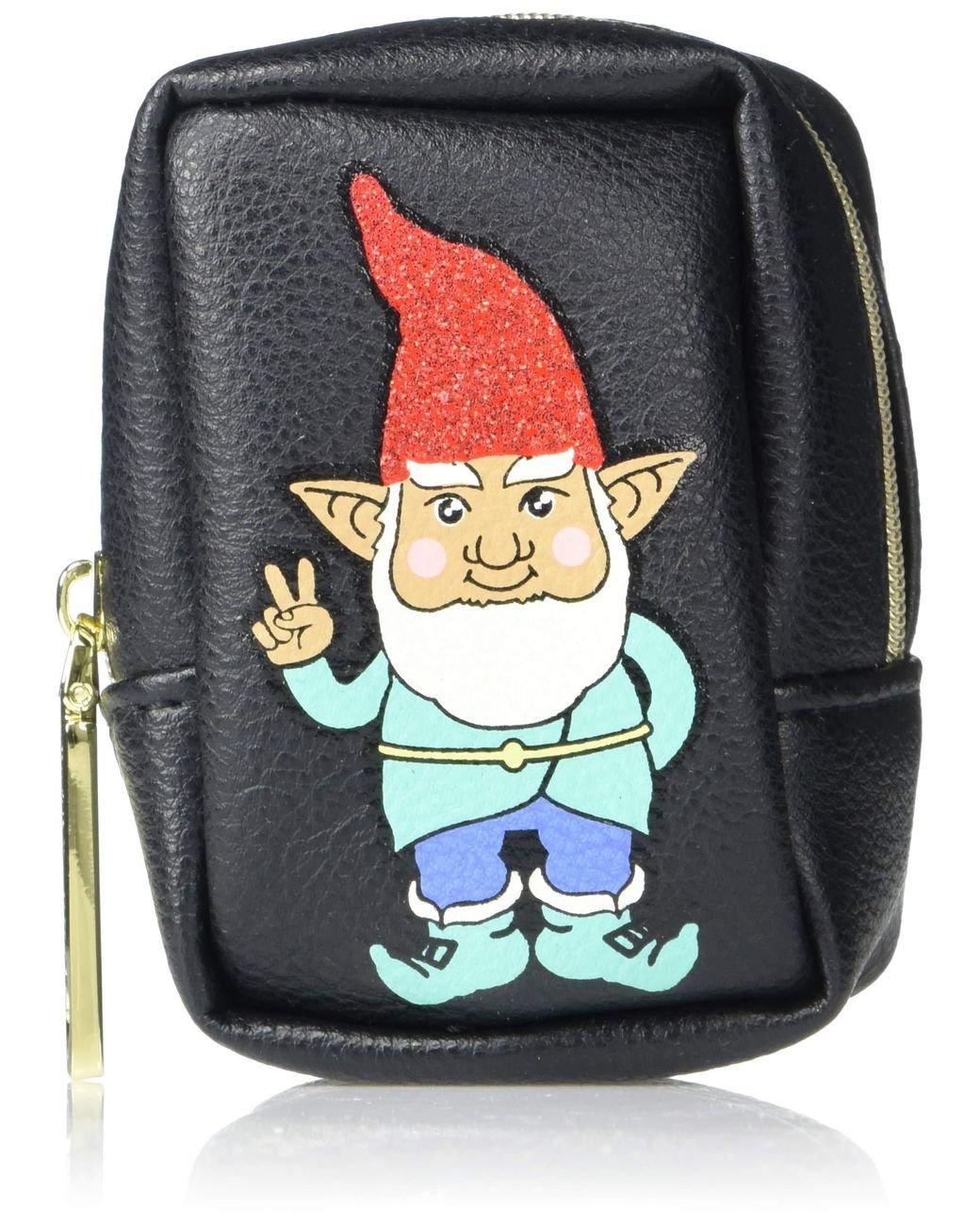 Betsey Johnson Christmas Holiday Elf Gnome Pill Case, Black!