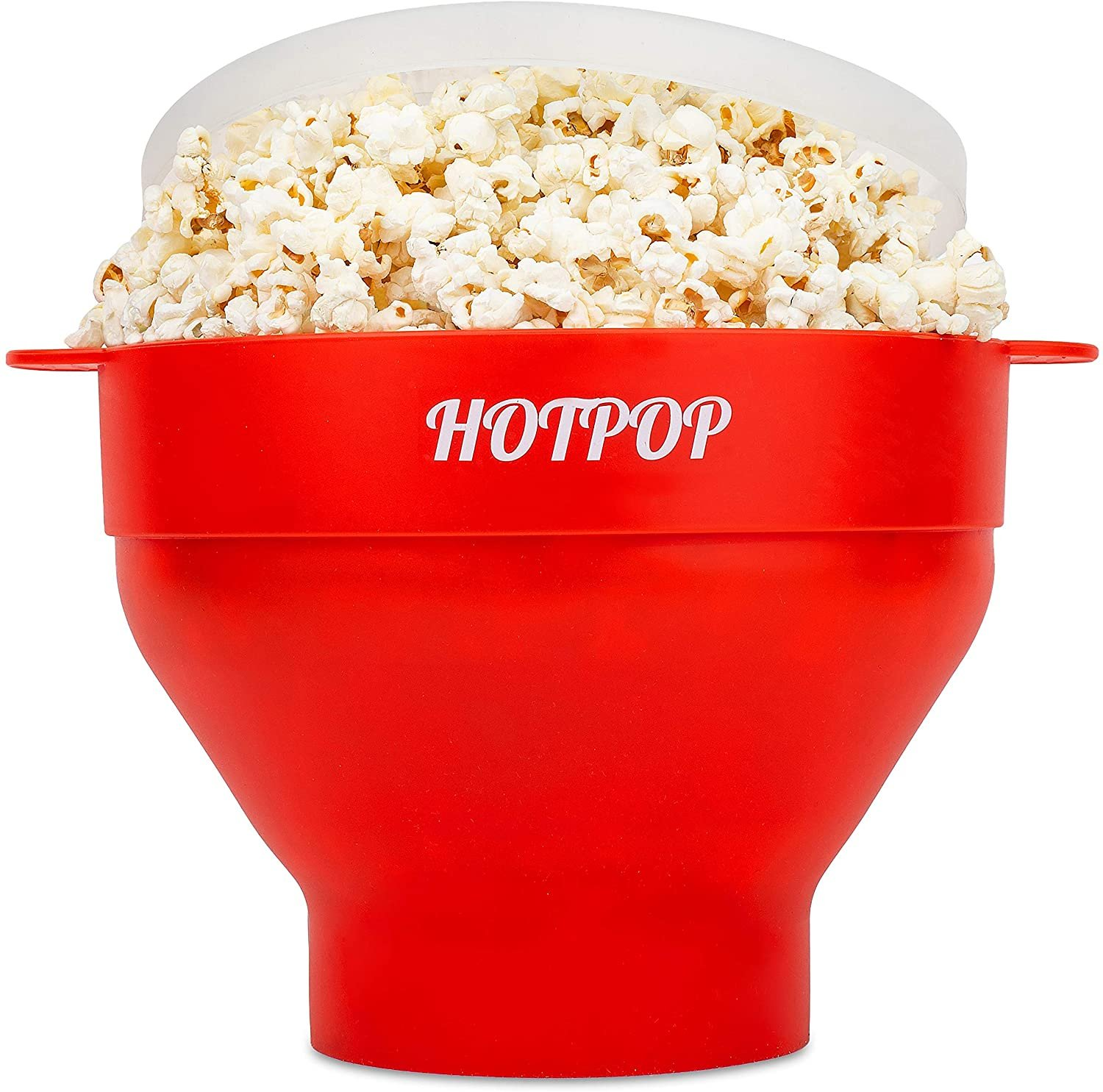 The Original Hotpop Microwave Popcorn Popper, Silicone Popcorn Maker, Collapsible Bowl!