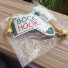 Christmas Cove Designs Hanover Style Brass Sock Hook® Christmas Stocking Holder!