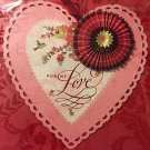 Papyrus Happy Valentine's Day Embellished Valentine Card w/ Coordinating Envelope and Gold Seal!