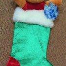Disney Store Winnie The Pooh 3D Plush Christmas Stocking - NWT!