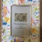 """Remembrances Porcelain Flower & Butterfly Tabletop Picture Frame 4""""x6"""" - NEW!"""