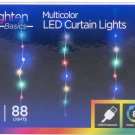 Jasco Enbrighten Multi-Color LED Curtain Fairy String Lights, #54299 - 88 LIGHTS!