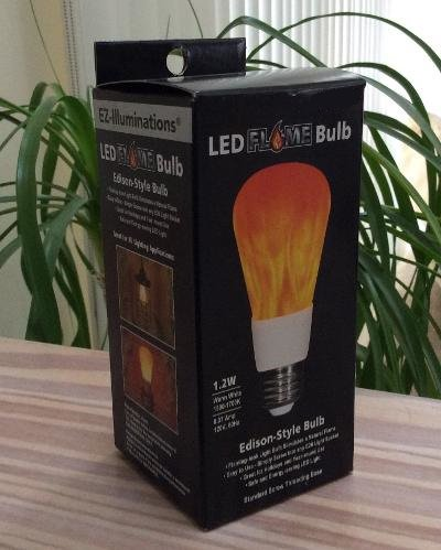 EZ Illuminations LED Flame Effect Bulb Edison Style Standard Base Light Bulb 120v 1.2 Watts!