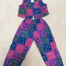 KUDA KANA Girls 2 pc. Pant Set - BOHO 100% Batik Cotton w/ Beads & Sequins - New w/ Tag - Size 6!