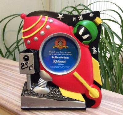 Looney Tunes Marvin The Martian Red Rocket Space Ship Tabletop Picture Frame by Intercraft!