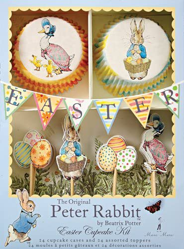 Meri Meri Beatrix Potter Peter Rabbit & Friends Cupcake Kit - 48 Pieces!