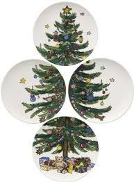 Nikko Christmas Giftware Accent Salad Plate Set, 8-1/4-Inch!