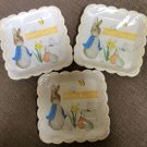 Beatrix Potter Peter Rabbit Yellow Scalloped Happy Easter Square Paper Dinner Plates - Lot of 3!