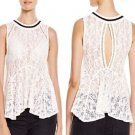 Free People Maisie Lace Tank Top Ivory Large - Style #OB438428 - NWT!