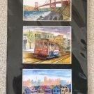 San Francisco Montage Watercolor Prints signed by Artist Carlos Cuzma #2!