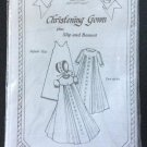 Shadow Stitching Christening Gown Plus Slip and Bonnet Pattern by Karen's Art of Stitching!