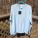 I LEVRIERI Men's Cable Knit Pale Blue Italian Cashmere / Silk Polo Sweater - Size XL - NWTs!