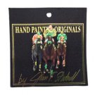 Vintage Hand-Painted Joan Studwell Kentucky Derby Horse Racing Pin!