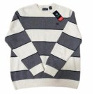Chaps Men's Classic Fit Cotton Crewneck Sweater, Essex Cream Multi, XXL - NWT!