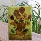 Vintage Dutch Masters 'Sunflowers' by Vincent Van Gogh Ceramic Tile Desk or Wall - Ter Steege - NIP!