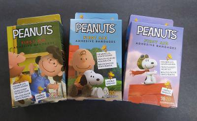 PEANUTS Charlie Brown, Lucy & Snoopy First Aid Bandages Band-Aids 20-ct LOT x 3 = 60 Bandages!