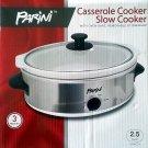 PARINI Casserole Cooker Slow Cooker 2.5 Quart!